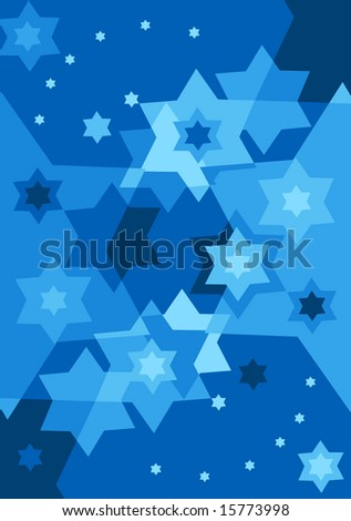 Vector six pointed stars - stock vector