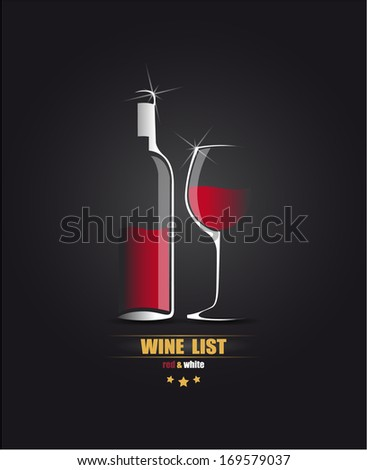Vector sketch for the wine list. - stock vector