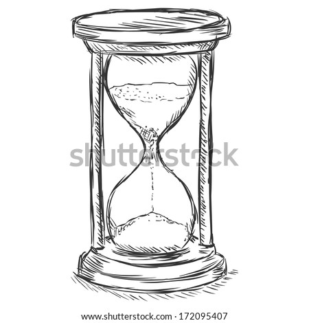 Sand Timer Drawing