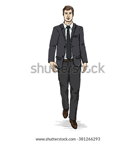 Business suit sketch