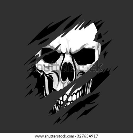 Vector skull artwork - stock vector