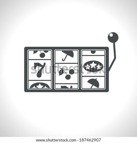 Vector slot icon. Eps10 - stock vector