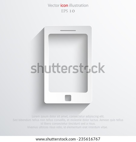 Vector smart phone icon. Eps 10 vector illustration. - stock vector