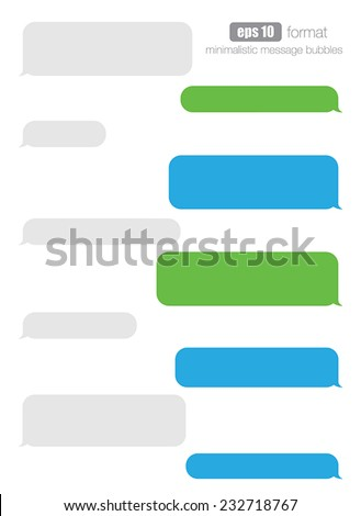 Vector smartphone chat bubbles. - stock vector