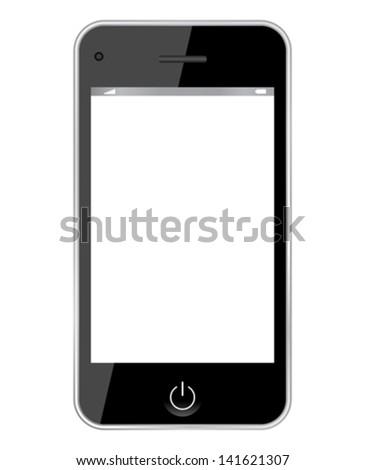 Vector smartphone illustration - stock vector