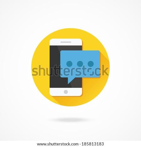 Vector Smartphone Message Icon - stock vector