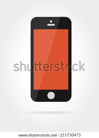 Vector smartphone similar to iphone. Smartphone icon. Phone vector. Phone gadget isolated, technology icon, cell, talk, connection, smartphone object. Mobile phone. Gadgets, mobile device - stock vector