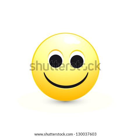 vector smiley face, funny face for web - stock vector