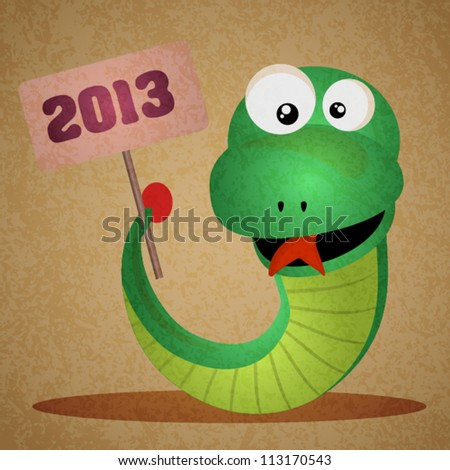 Vector Snake, Chinese New Year 2013 - stock vector