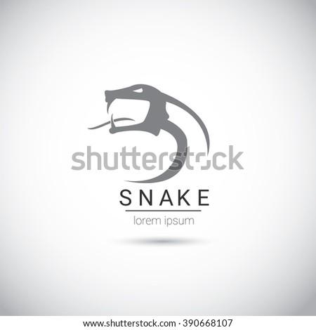 vector snake simple black logo design element. danger snake icon. viper symbol - stock vector