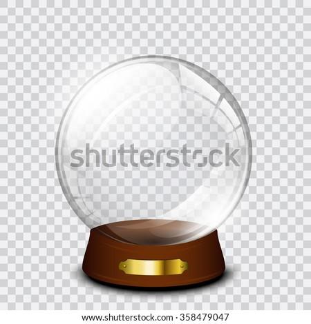 Vector snow globe  - stock vector