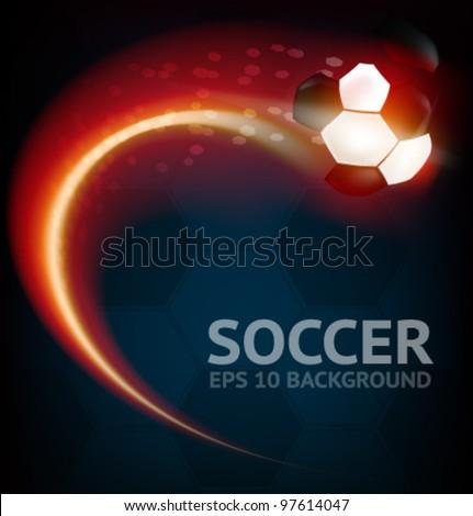 Vector Soccer Background - stock vector