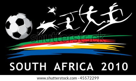 vector soccer background in African style - stock vector