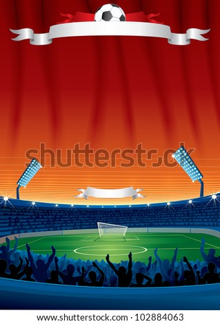 Vector Soccer Background with Copy space. Template For your Text and Design - stock vector