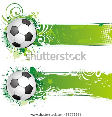 vector soccer design element - stock vector