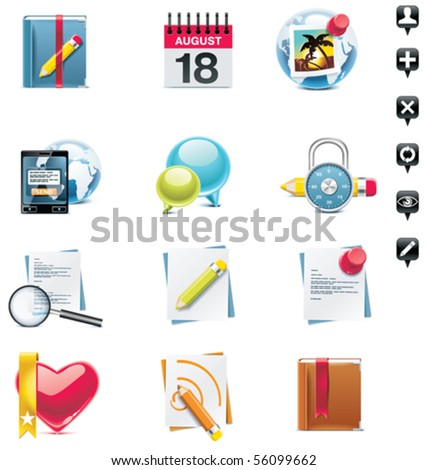 Vector social media icon set. Part 2 - stock vector