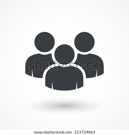 Vector social network button. Users icon design element - stock vector
