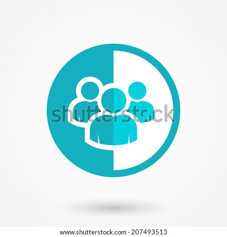 Vector social network icon. Users icon design element - stock vector