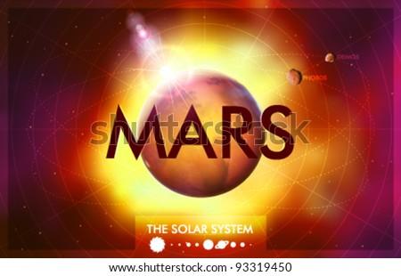 Vector Solar System - Planet Mars - stock vector