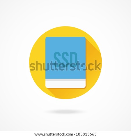 Vector Solid State Drive Icon - stock vector