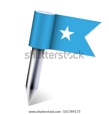 Vector Somali country flag isolated on white. Eps10 - stock vector