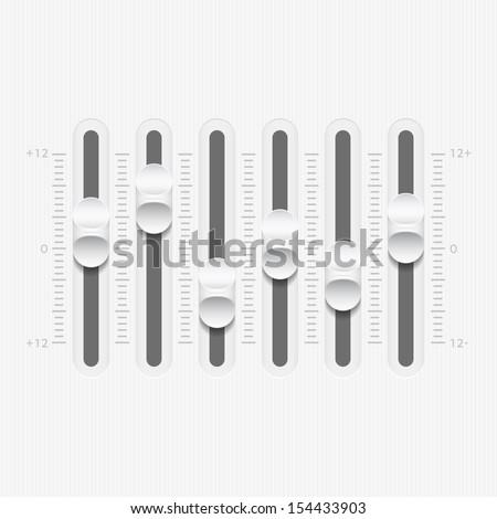 Vector Sound Mixer Console Panel - stock vector