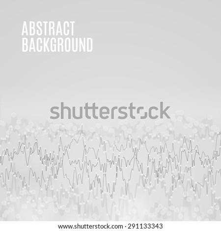 Vector sound wave abstract background. Depth of field curved line illustration. Cover template for music album. High quality design element. - stock vector