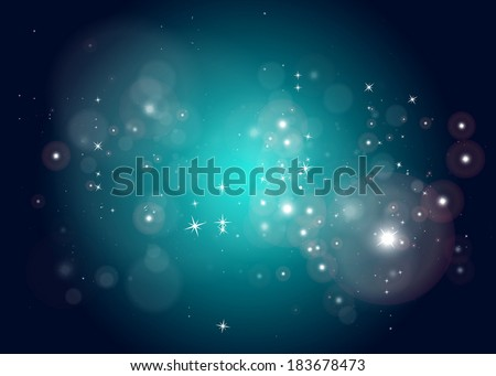 Vector space abstract star field background design template - Vector sparkling haze space  background illustration - stock vector