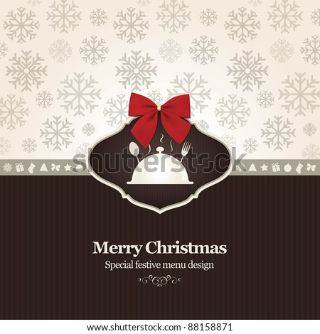 Vector. Special Christmas restaurant menu - stock vector