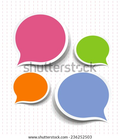 Vector speech bubble background with text space - stock vector