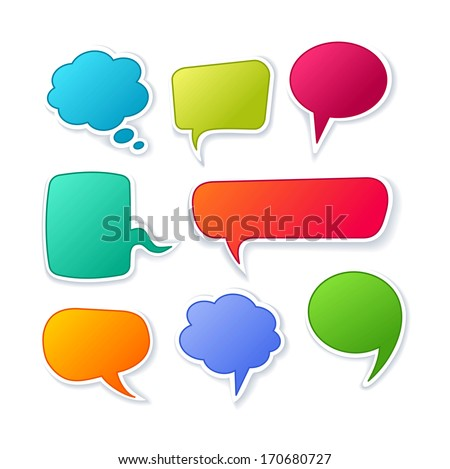 Vector speech bubble collection - stock vector