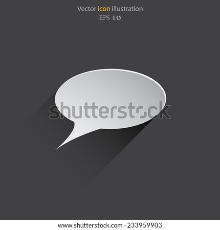 Vector speech bubble web flat icon. Eps 10 illustration. - stock vector