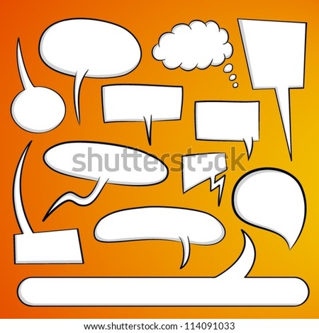 Vector speech bubbles. - stock vector