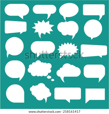 vector speech bubbles - stock vector
