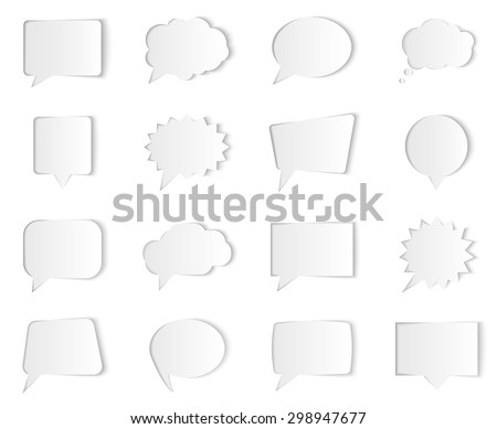 Vector speech bubbles isolated on white background. Illustration for presentations, brochures, artworks, websites, sale or discount offers - stock vector