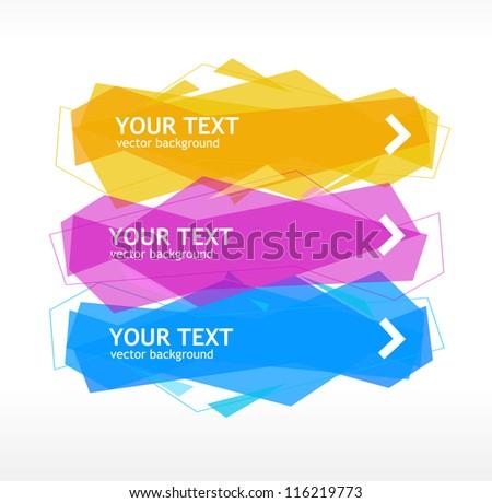 Vector speech template - stock vector