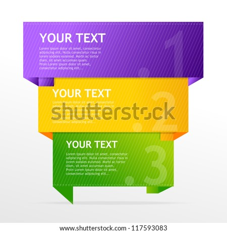 Vector speech template for text - stock vector