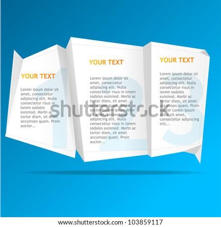 Vector speech templates for text - stock vector