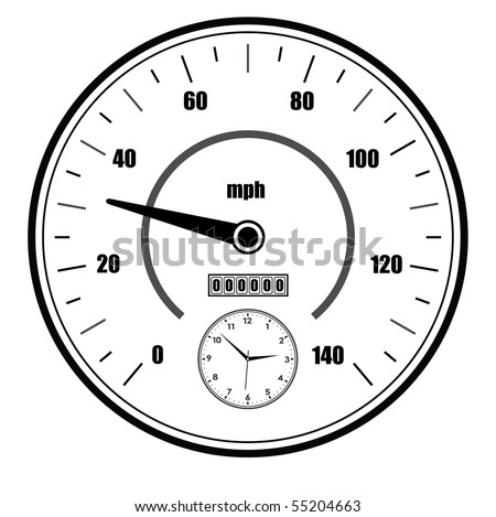 vector speedometer symbol - stock vector