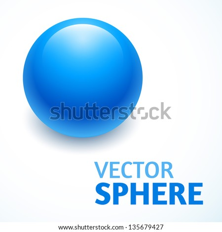 vector sphere abstract with text - stock vector