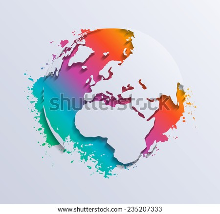 Vector splash world - stock vector