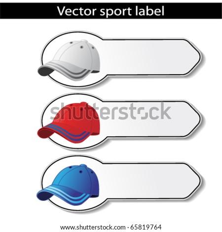 Vector sport labels - stock vector