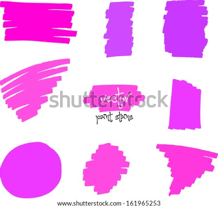 Vector spot of Vibrant colors by felt pen - stock vector