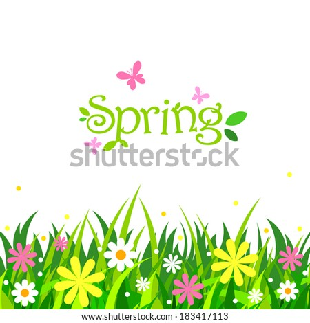 Vector spring background - stock vector
