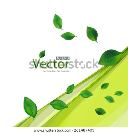 Vector spring background with lighting effect. - stock vector
