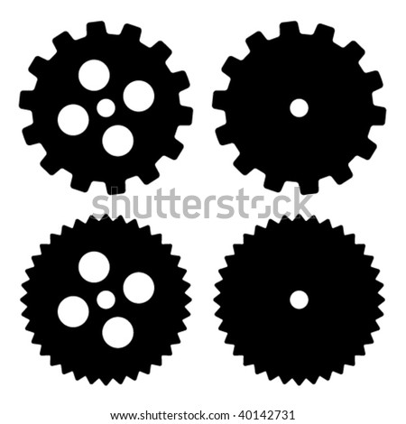 vector sprockets - stock vector