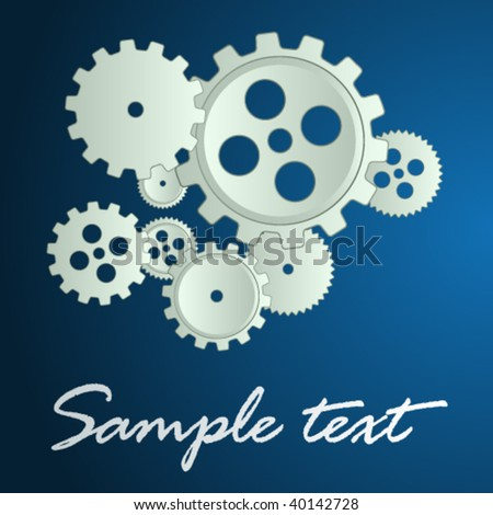vector sprockets background - stock vector