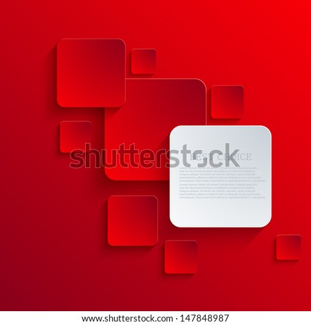 Vector square background. Eps10 - stock vector