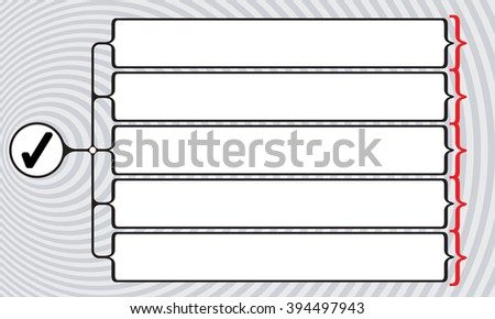 Vector square brackets for your text and check box - stock vector