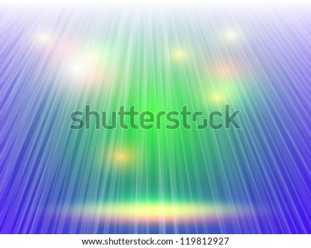 vector stage spotlight with laser rays - stock vector